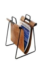 Faux Leather Magazine Holder Leather Magazine Racks Brown Leather Sling Magazine Rack Faux 100