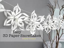 paper snowflakes 3d easy 3d origami paper snowflake tutorial youtube