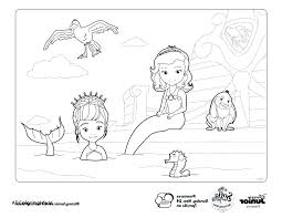 Coloring Pages Sofia The First Coloring Pages Printable Mermaid