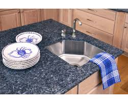 Yellow And Blue Kitchen Blue Granite Countertops White Cabinets Countertops Blue