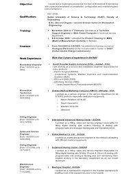biomedical medical service engineer sample resume gallery - Sample Resume  For Biomedical Engineer