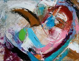 heart art modern contemporary abstract original heart painting missouri artist elizabeth chapman
