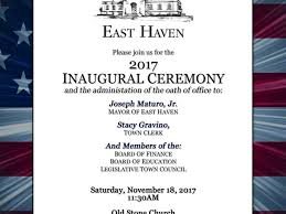 pictures of flyers invite of mayoral inauguration east haven residents invited to inauguration east haven ct patch