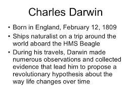 biology chp darwins theory of evolution powerpoint charles darwin