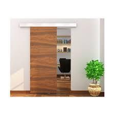 contemporary sliding barn door hardware set with soft close