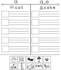 You can download a4 size or us size worksheets. Cut And Paste Spell Phonics Picture Sorting Worksheets Book 4 Long Vowels