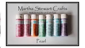 Swatching Martha Stewart Pearl Acrylic Paint Collection