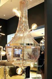 gold fringe chandelier m gold foil