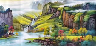 eternal spring amid myriad of mountains art paintings for arteet