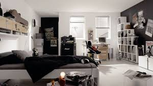 Delightful White Shelves And Black Accent Wall For Cool Teen Bedroom Ideas Using  Modern Study Room
