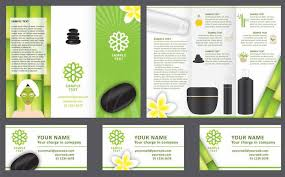 Spa Brochure Template Mesmerizing Trifold Brochure Template 48 Free EasytoCustomize Designs