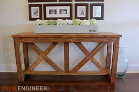 sofa table plans. DIY X-brace Console Table | Free Plans Rogue Engineer Sofa O