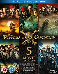Blu Ray Charts Amazon Pirates Of The Caribbean 5 Movie Complete Collection Blu