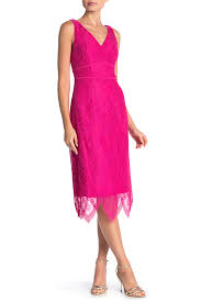 Nanette Nanette Lepore Scallop Lace Midi Dress Nordstrom Rack