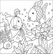 Small Picture Free Printable Seahorse Fish To Color Fish Coloring Page Free