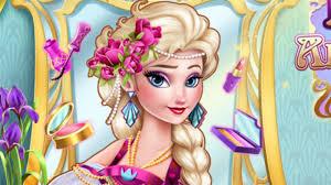 elsa art deco couture disney princess dress up and makeup cartoon games for s you