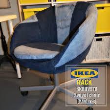 white office chair ikea nllsewx. Marvelous Diy Ikea Hack On The Skruvsta Swivel Chair Done Denim Style For Desk Green And White Office Nllsewx L