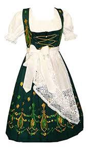 Edelnice Trachtenmoden Size Chart Dirndl Trachten Haus 3 Piece Long German Wear Party Oktoberfest Waitress Dress 10 40 Green