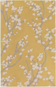 surya marigold ine yellow gray ivory area rug