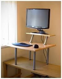 diy standing desk conversion. Fine Desk Diy Standing Desk Converter Pneumatic Adjustable  Stand Up Regarding For To Conversion