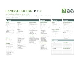 checklist template xls template packing checklist template