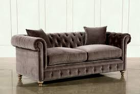 added to cart mansfield inch graphite velvet sofa living spaces