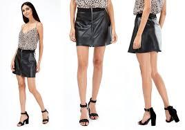 a line pu zip mini skirt 11 99 leather mini skirt outfits