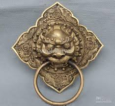 2018 lucky chinese china fengs dragon phoenix br lion mask door knocker from wrolder 70 06 dhgate