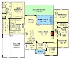 house plans with bonus room. Beautiful Plans Acadian House Plan With Bonus Space  51740HZ Floor Plan Main Level In Plans With Room O