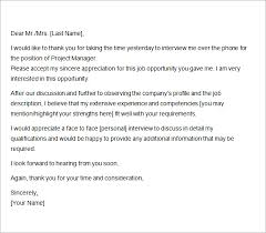 Best Ideas Of After Phone Interview Email Enom Warb Cute Sample