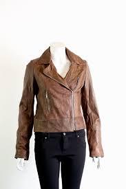 las leather biker jacket