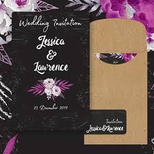 Black And Purple Invitations Black White And Purple Wedding Invitations