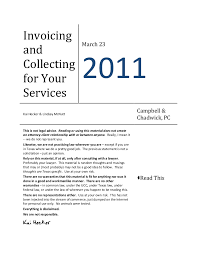 Services Rendered Invoice Mesmerizing Invoicing And Collecting For Your Legal Services