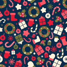 Christmas Pattern Amazing Retro Style Christmas Pattern Winter Background Endless Texture In