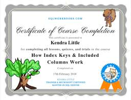 Completion Certificates New Course Completion Certificates Sql Workbooks