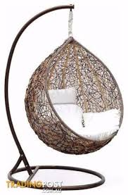 hanging pod chair outdoor. outdoor egg chair swing pod, hanging stand berwick wicker rattan pod