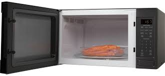 ge countertop microwave black stainless steel jes1657bmts