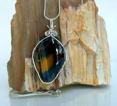 blue tiger eye gemstone pendant good