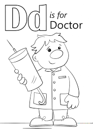 Small Picture Letter D Is For Doctor Coloring Page Download Education Letter
