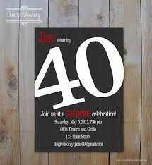40th birthday invitations uk