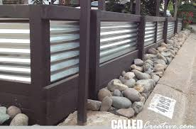corrugated metal fence. Creating A Modern Wood \u0026 Metal Retaining Wall Fence Corrugated