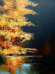 fine art paintings on oil painting paintings art oil paintings inspiration the artists color justyna digging art trees autumn trees