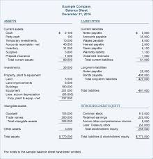 balance sheet template sample balance sheet accountingcoach