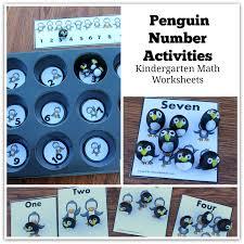 Kindergarten Math Worksheets - Penguin Number Activities