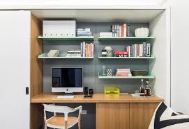 alcove office. home office floating shelves contemporary with sliding door metal shelving small desk alcove m