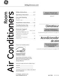 001 window air conditioner user manual general electric company page 1 of 001 window air conditioner user manual general electric company