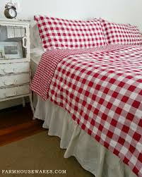 farmhouse musings: Red Checked Bedding adds Bright Country Cheer & I recently gave this bedroom a fresh coat of bright white paint. It had  been a warm oatmeal color with muted pastel bedding, but I felt inspired to  leave ... Adamdwight.com