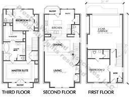 Townhouse Design PlansTownhome plan d l