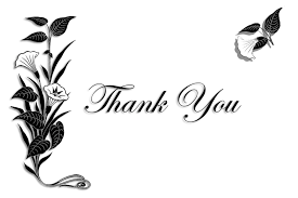 900x600 thank you black and white free clipart for thank you cards