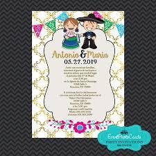 Mexican Invitations Wedding Gold Charro Quinceanera Mexican Wedding Invitations